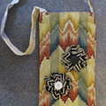 NARROW TOTE OR BOTTLE BAG  - With Over the Shoulder Strap. Lined.