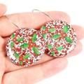 Holly disc earrings