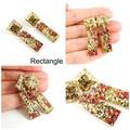 Tradtional Christmas colour earrings