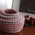 Crochet baskets - matching set.