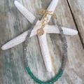 Labradorite with Emerald Crystal Gemstone Bracelet