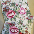2 SHOE OR LINGERIE TRAVEL BAGS - Drawstring with fabric flower decoration.