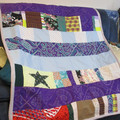 SCRAP PATCHWORK LAP QUILT / PICNIC QUILT - colourful and bright