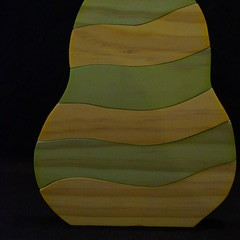Pear coloured stacking puzzle