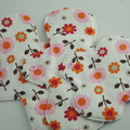 "Floral Super Soft t-shirt Washable 10"" Heavy Reusable Cloth Menstrual Pad"