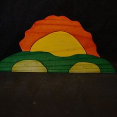 Mountains and sun puzzle