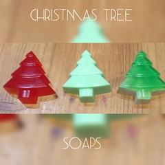Christmas Tree Soaps x 3