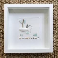 Sea Glass Art - Fisherman