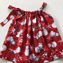 Bright Christmas dress for a 2 year old