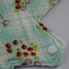 "Strawberries Washable 12"" Post Partum Reusable Cloth Menstrual Pad"