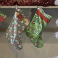 Christmas stocking with dog print