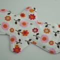 "Floral Super Soft t-shirt Washable 10"" Heavy Reusable Cloth Menstrual Pad"
