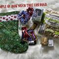Snowflakes and robins Christmas stocking