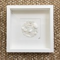 White Sea glass circle wall art