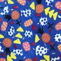 'Calypso' Statement Stud-drop Earrings in Electric Blue