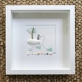 Sea Glass Art - Fisherman