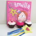 Cupcake Felt Food, Reading aid, Book Set,Felt Play Food