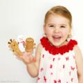 Free Post Christmas Finger Puppets Snowman Reindeer Gingerbreadman
