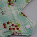 "Strawberries Washable 12"" Post Partum Reusable Cloth Menstrual Pad"