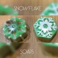 Snowflake glycerine soaps x 2