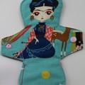 "Esperanza Turquoise Washable 10"" Heavy Reusable Cloth Menstrual Pad"
