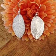Recycled Silver Native Leaf Earrings