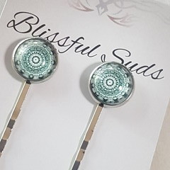 Glass Button Hairpin - Style #3