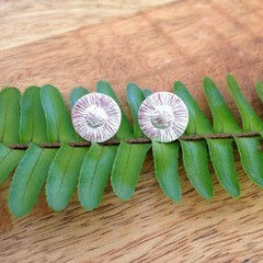 Recycled Silver Daisy studs