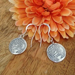 Recycled Silver Koi Carp Earrings
