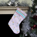 Light pink Christmas stocking with Angel design