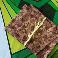 Handy Bags-Modern print in browns/gold