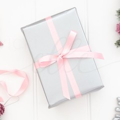 Christmas Gift Stock Photo, Styled Christmas Photo, Gift Wrapping Photo