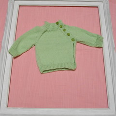 Hand Knitted Baby Cardigan/Jacket to fit New Born