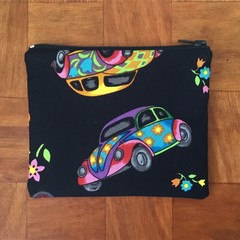 Black VW Beetle coin purse