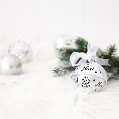 Christmas Stock Photo, Christmas Bauble Photo, Styled Stock Photo