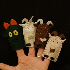 Billy Goat Gruff finger puppets