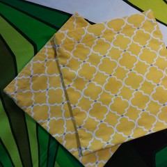 Handy Bags- Bright yellow/grey/white modern print