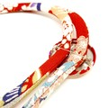 Kimono Cord Necklace Red Florals