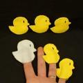 5 little ducks and Mother duck finger puppets
