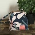 Handbag (sml/long) - Navy/Coral Banksia