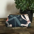 Large Purse - Navy/Coral Banksia