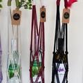 Macrame Wine Bottle Totes. Re-useable wine bottle gift bag