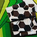 Handy Bags- Brown/black modern print on white