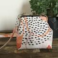 Handbag (sml/long) - Cream/Pink Modern Floral