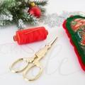 Handmade Christmas Stock Photo Sewing