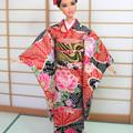 Doll Japan kimono set for fashion dolls, Barbie, Poppy Parker