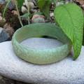 SALE Floral Bangle  - resin flower carved bracelet