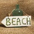 Sea glass beach sign