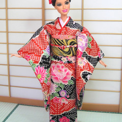 Doll Japan kimono set for fashion dolls, Barbie, Poppy Parker