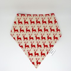 Scandi Christmas Bib Bandana Dribble  - Reversible & Water Resistant